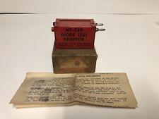 Snap On Tools Mt 549 Diode Test Adaptor In Original Box Amp Paperwork