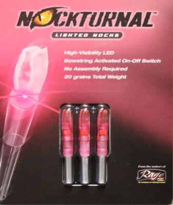 NockTurnal Lighted Nock Easton H Red 3 Pack