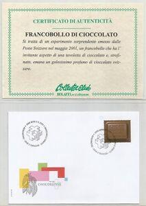 """SVIZZERA - 2001 """"Chocosuisse"""" francobollo singolo su busta primo giorno - Italia - SVIZZERA - 2001 """"Chocosuisse"""" francobollo singolo su busta primo giorno - Italia"""
