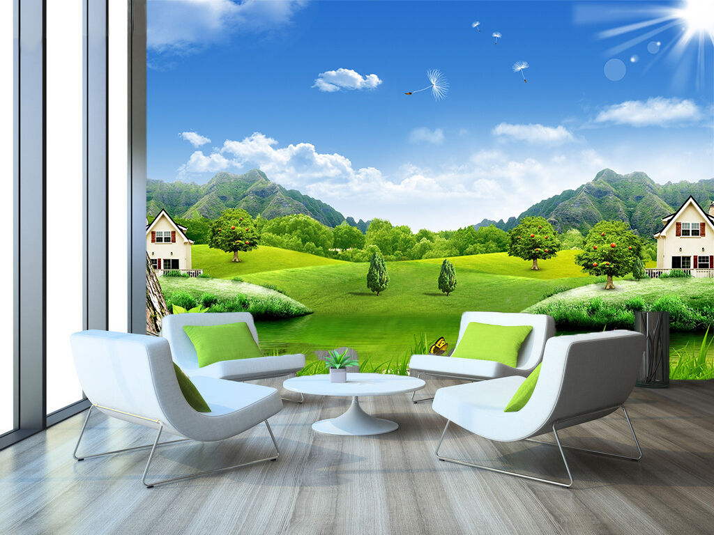3D Clear sky, grassy 4354 Wall Paper Print Wall Decal Deco Indoor Wall Murals