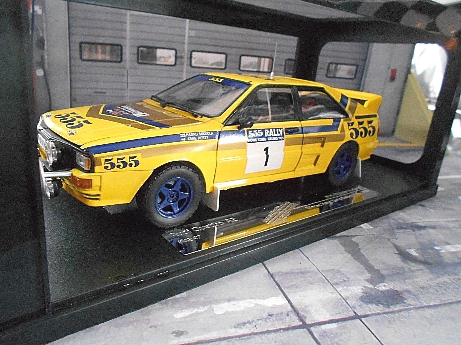 AUDI Quattro Rallye Gr.B 555 Hongkong Peking 1985  1 Mikkola Hertz Sunstar 1 18