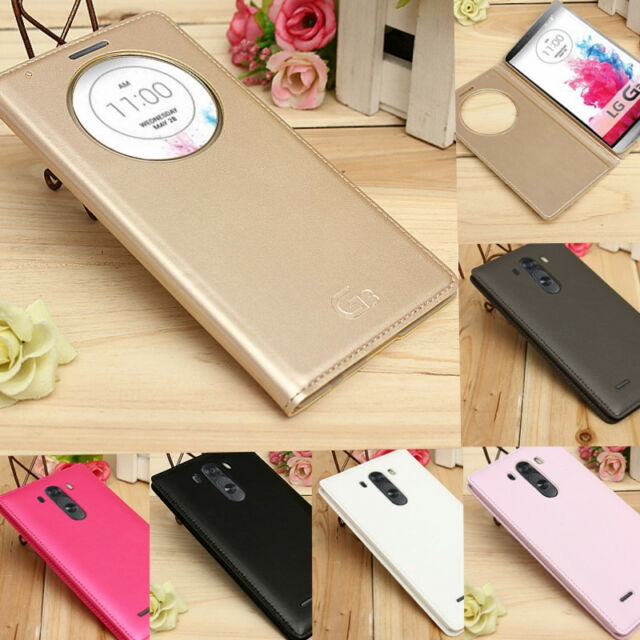 Circle Window View Flip Leather Smart Battery Cover Case For LG G3 D850 D855
