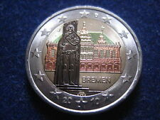 """MDS DEUTSCHLAND 2 EURO 2010 J """"BREMEN"""", COLORIERT"""