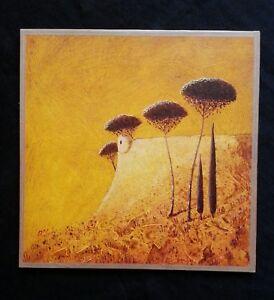 Peinture Surrealiste Forteresse Tour De Guet Pinede Cypres Ebay