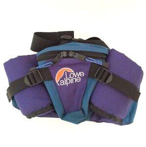 Lowe-Alpine-Lumbar-Waist-Day-Pack-Purple-Teal-Wide-Belt-Adjustable-Compartments