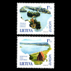 Lithuania 2001 - EUROPA Stamps - Water, Treasure of Nature - Sc 691/2 MNH
