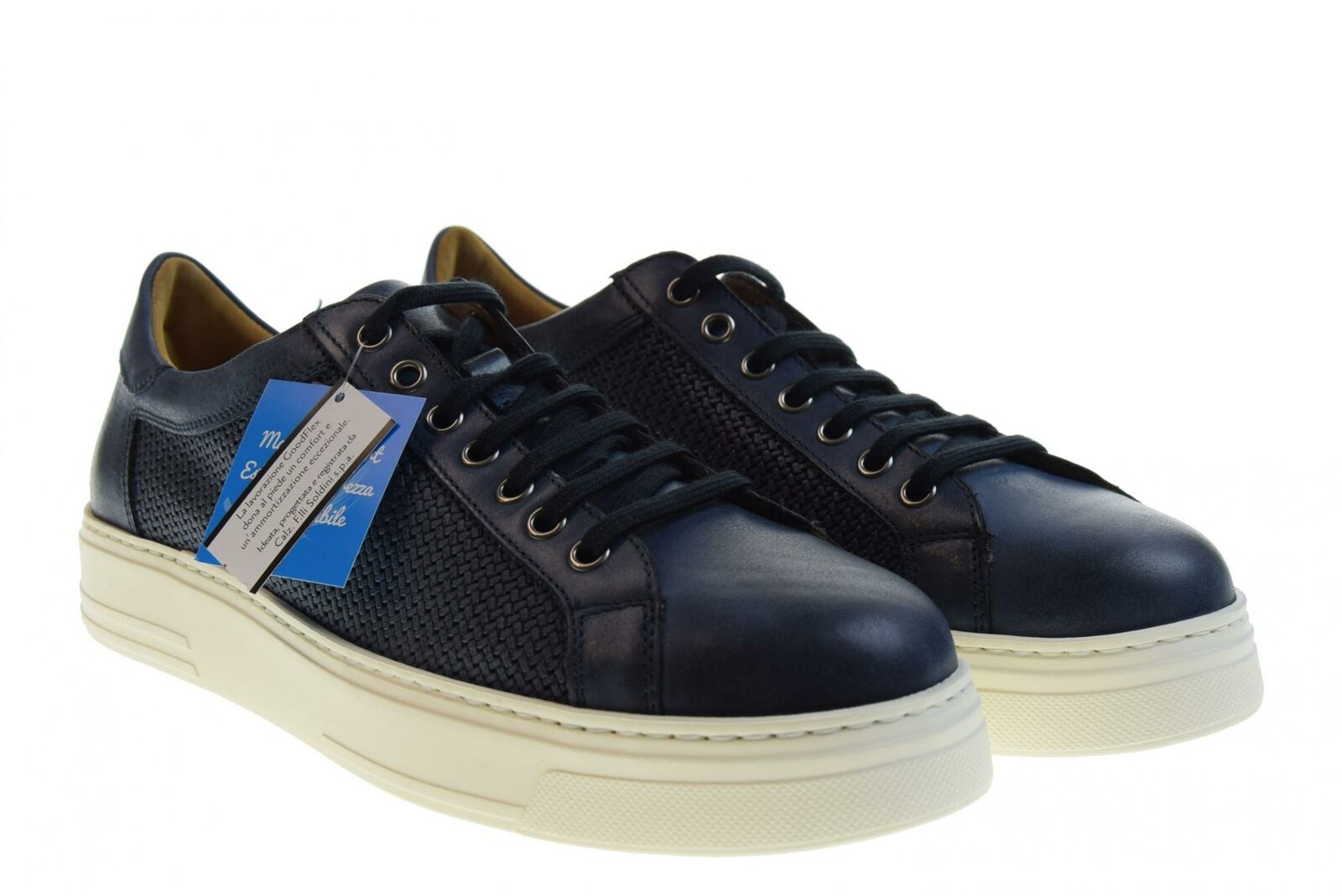 Antica Cuoieria P19s zapatillas bajas 20808-S-V86 KIRA SLAVATO PRINTED blueE