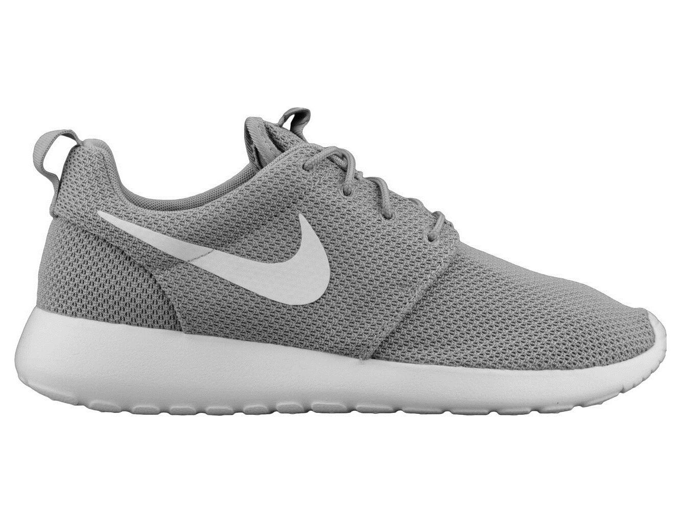 Nike Roshe One Mens 511881-023 Wolf Grey White Mesh Running Shoes Size 8.5