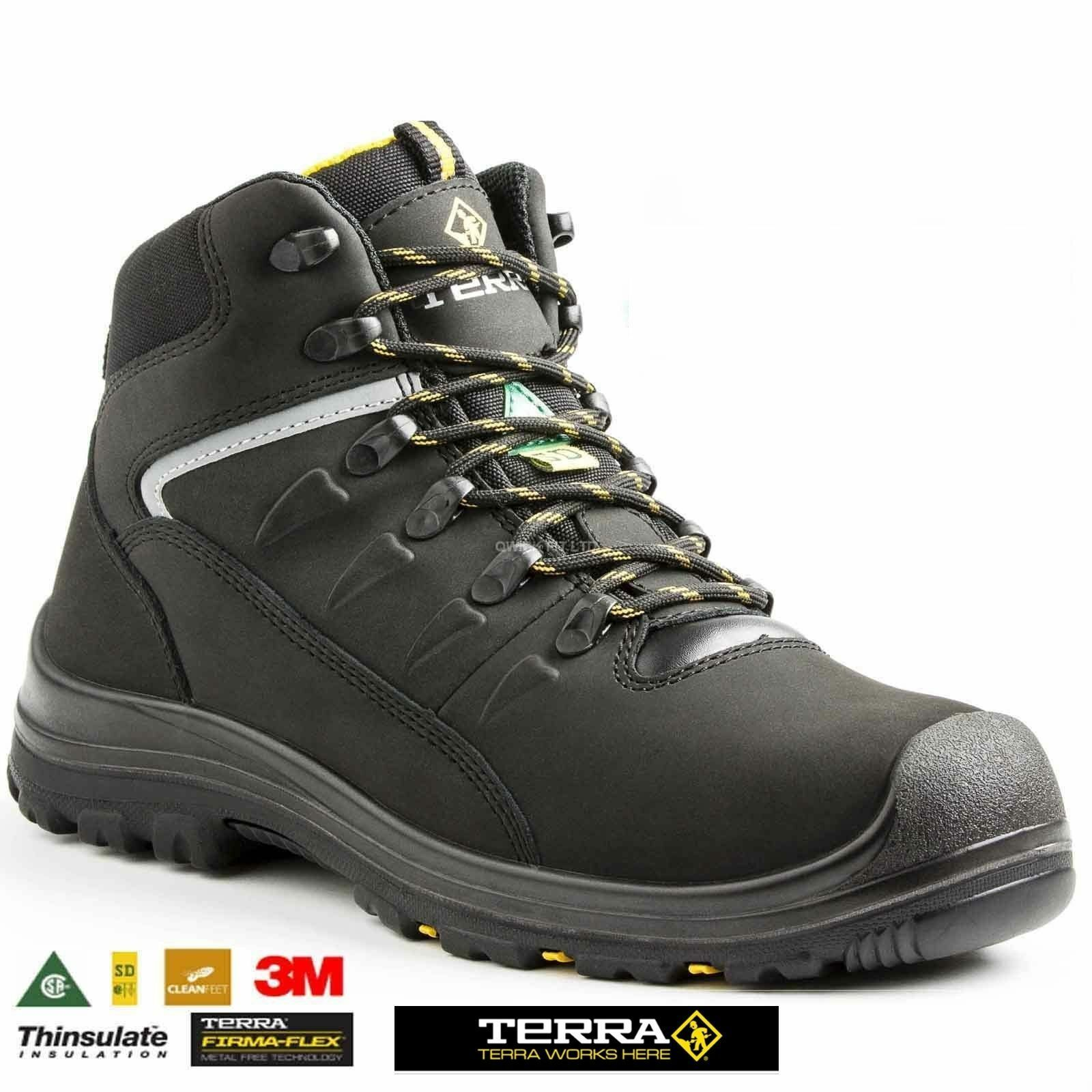 MENS TERRA COMPOSITE TOE CAP SAFETY MIDSOLE SAFETY WORK LEATHER WATERPROOF BOOTS