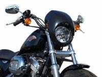 Black Headlight Fairing For Harley Front Fork Mount Sportster Dyna Fx/xl Glide on Sale