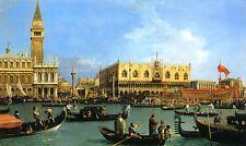 CANALETTO :: BACINO DI SAN MARCO ON ASCENSION DAY : VENICE FINE ART CANVAS PRINT