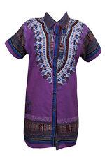 AFRICAN SHIRT DASHIKI PRINT MEN WOMEN BOHO HIPPIE GYPSY TOP BLOUSE DRESS L