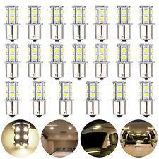 20pcs Warm White Led 1156 13 Smd Rv Camper Trailer Interior Light Bulbs 1141 12v