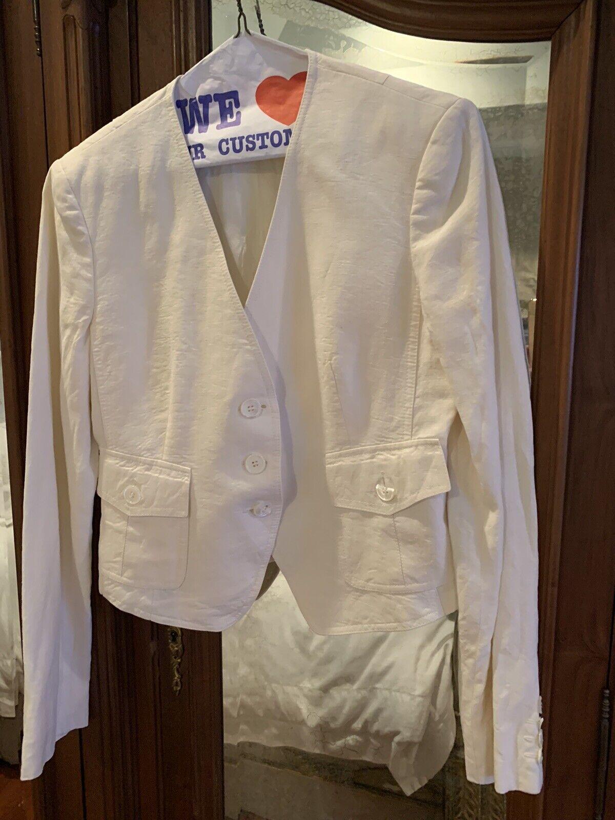 Cream Linen Michael Kors Suit - image 1