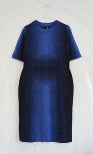 Laine Wool Hof115 Black Dress Knit Dress Blue S Cos Blue Jacquard 5qqg6