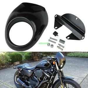 Image Is Loading Headlight Fairing Front Cowl Mask Cafe Racer Harley