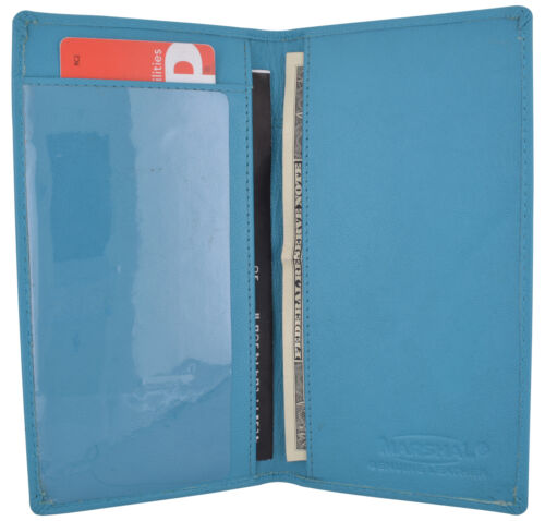 Brand New Hand Crafted Genuine Soft Leather Checkbook Cover with Duplicate Flap