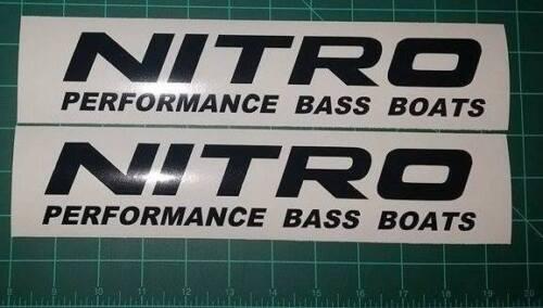 Nitro Performance Bass Boat Decal Sticker Set pêche bass RAPALA pare-brise
