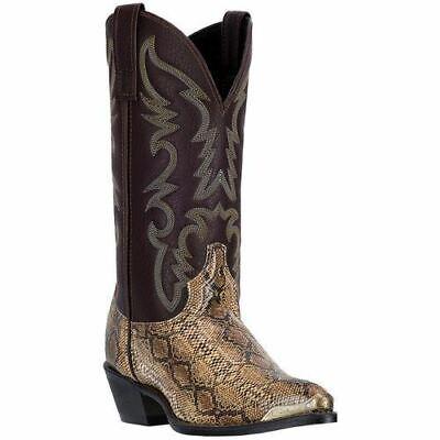 5a636ec12a2 Laredo Men's Monty Western Snake Print Boots Tan Multi Brown 68068   eBay