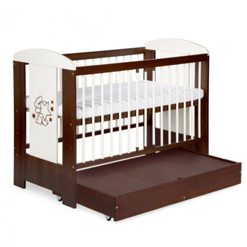 FREE MATTRESS 120x60cm BABY CHILD WOODEN COT BED WITH DRAWER