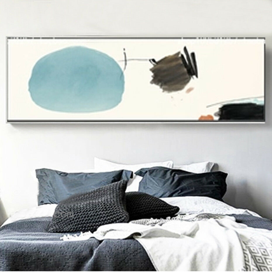 XXL Canvas Print - Panoramic Abstract Circle Draw WaterFarbe Art Decor-Unframed