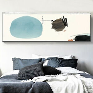 XXL-Canvas-Print-Panoramic-Abstract-Circle-Draw-Watercolor-Art-Decor-Unframed