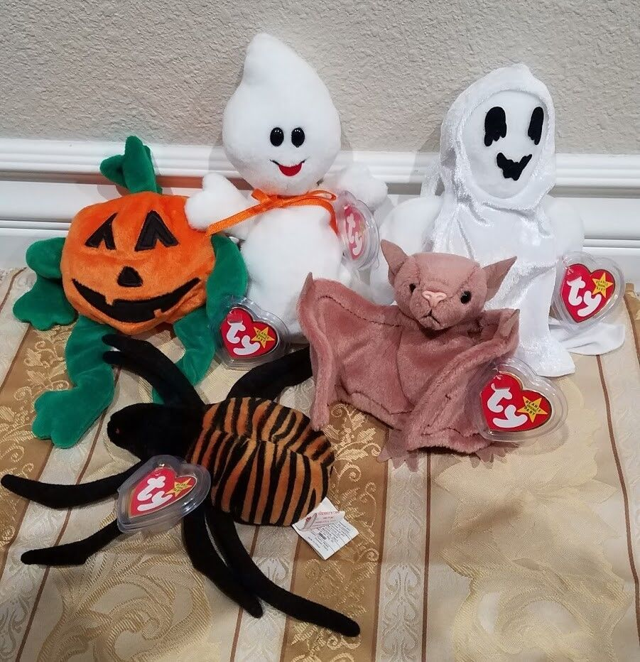 RARE RARE RARE Ty Beanie Baby w ERRORS -  Spooky  Ghost + Halloween Collection - MWMT MQ 2f5b93