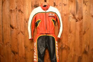9c30b1836 Details about DAINESE ITALY RARE RIDERS VINTAGE CAFE RACER MOTORCYCLE BIKER  LEATHER SUIT 44-XS