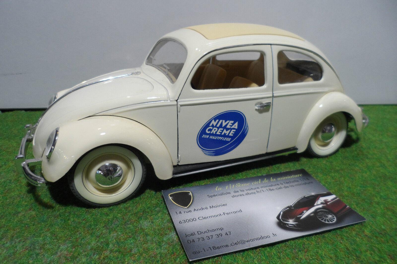 VOLKSWAGEN COCCINELLE NIVEA Crème ZUR HAUTPFLEGE 1 18 SOLIDO voiture miniature
