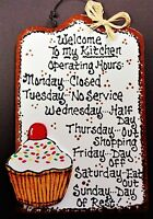 Cupcake Patisserie Wood Wall Decor Sign Ebay