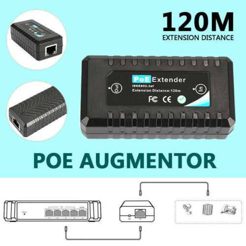 1 Port 10//100M PoE Extender IEEE802.3af For Ethernet Security Systems IP Camera