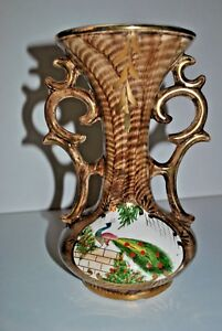 ObéIssant Vintage Vase FaÏence H Bequet Quaregnon Belgique - Belgium