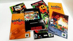 100-SNES-N64-CRYSTAL-CLEAR-MANUAL-AND-INSERT-BAGS-SUPER-NINTENDO-64