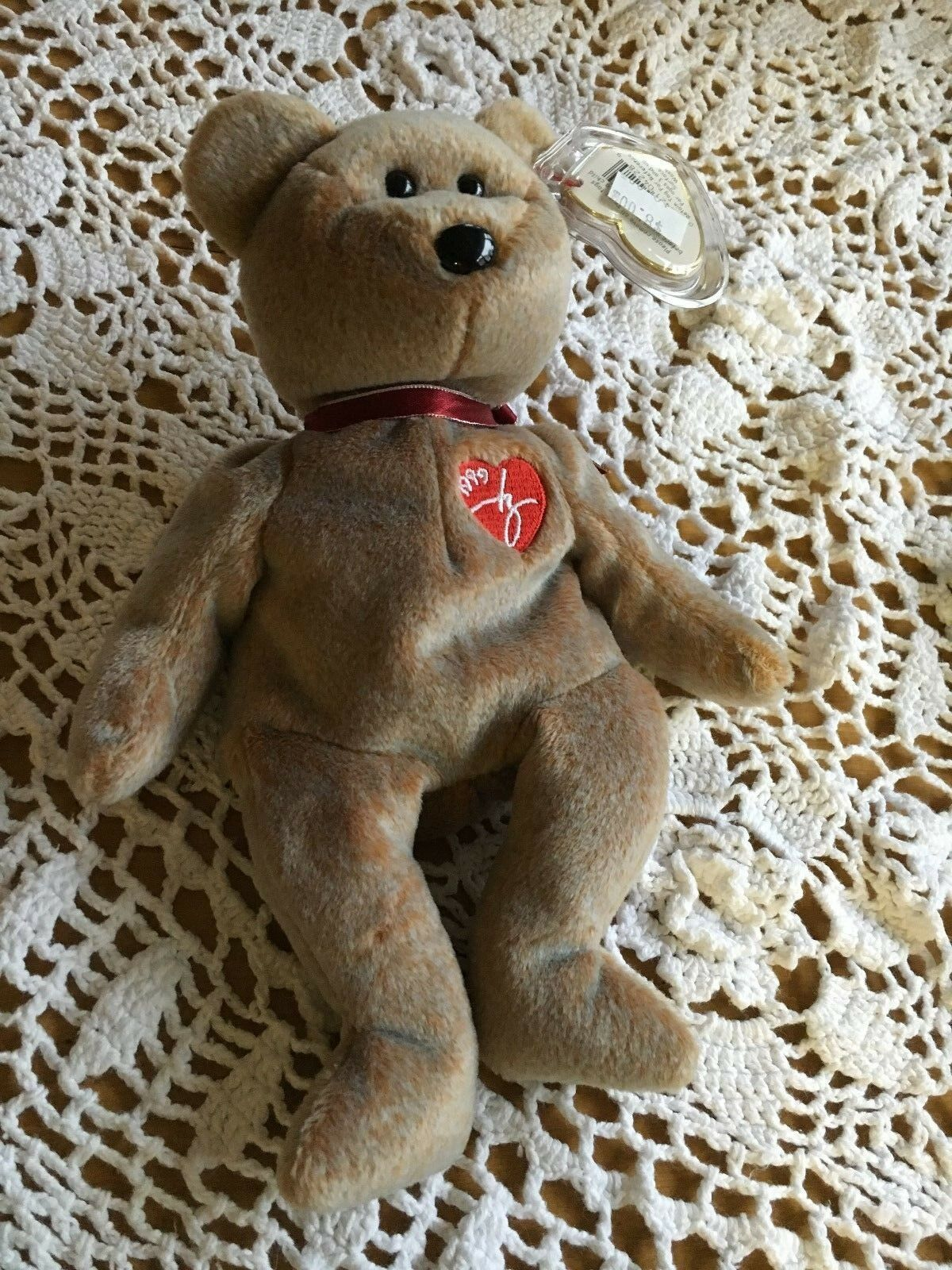 Ty Beanie Baby SIGNATURE BEAR  Original1999 collectible with Tag Errors.