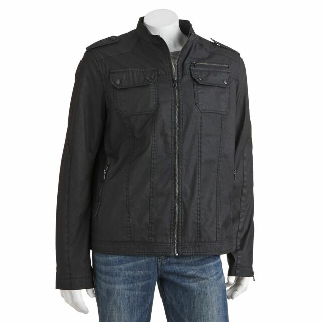 New Rock & Republic Men's Military-Style Canvas Jacket Black Size XL MSRP $160