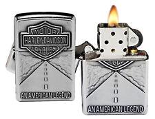 Zippo Lighter 20229 Silver Harley Davidson Street Emblem Chrome Classic NEW