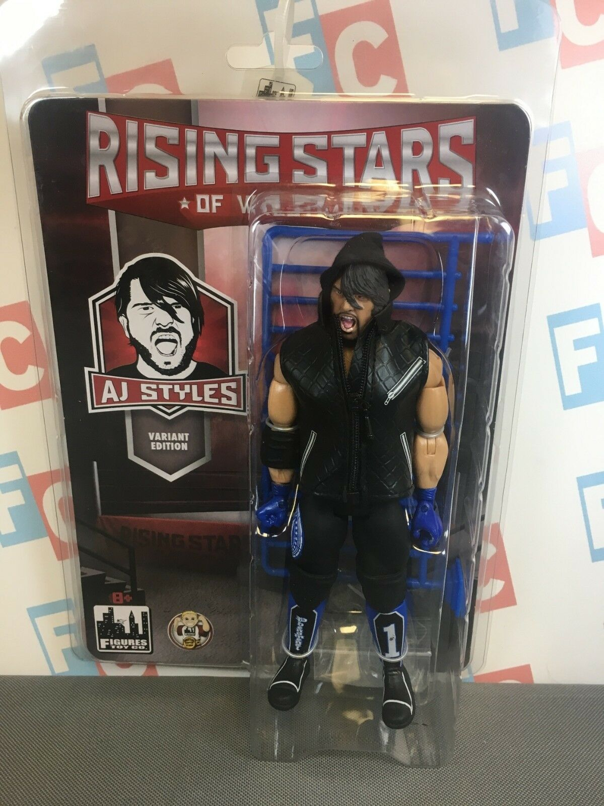 Figures Toy Company Rising Stars of Wrestling AJ Styles Figure WWE Ruthless  3