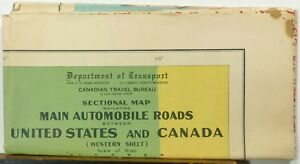 Details about 1938 Canada Northern United States large highway road on west rivers in united states, district of columbia map united states, british columbia map with cities, british columbia map alaska, columbia river map united states, british columbia canada, british columbia and alberta road map, columbia city in the united states, british columbia usa,