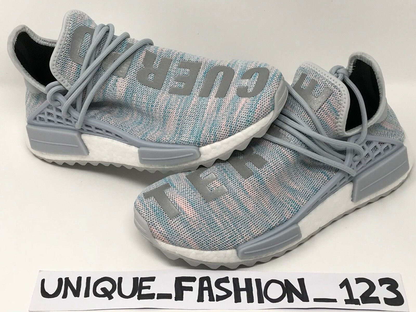 ADIDAS NMD HUMAN RACE PHARRELL CLUB BILLIONAIRE BOYS CLUB PHARRELL 6.5 COTTON CANDY BBC 286ac6