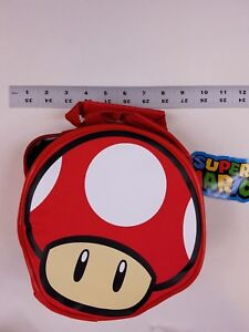 Super-Mario-Bros-RED-MUSHROOM-Insulated-Lunch-Box-Bag-NEW-CultureFly-Nintendo