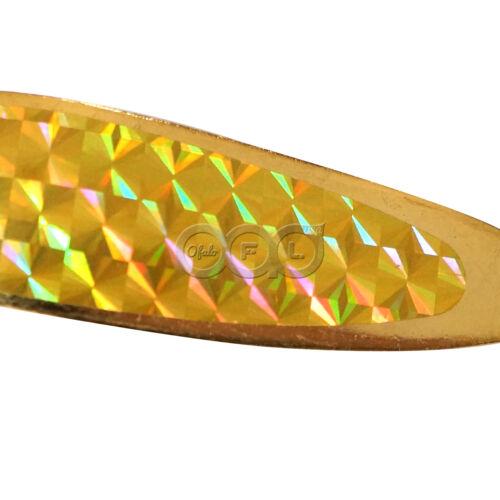 10pcs 1oz Gold Chrome crocodile Spoon trolling flutter Casting Jigs Metal Lure