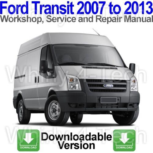Service and Repair Manual via lien de téléchargement Ford Transit 2007 To 2013 atelier
