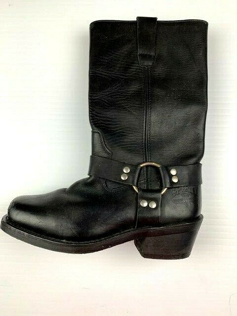 Womens Altimate SPIRIT Leather Motorcycle Boots Size 9 Black