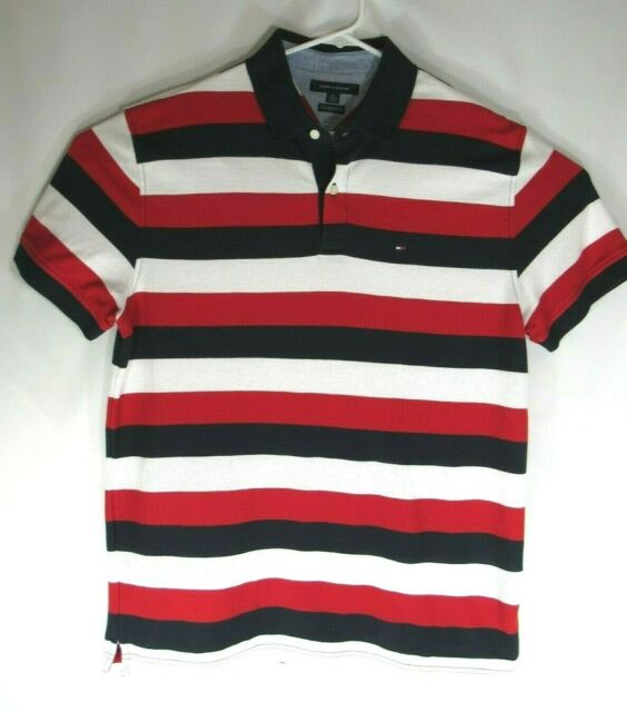 Tommy Hilfiger Striped Polo Style Shirt Size XL 02/2017 | eBay