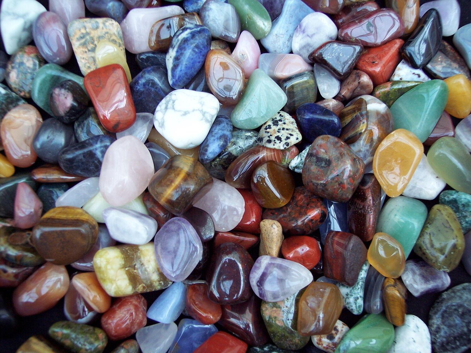 Unique Wedding Favours LARGE Shiny Semi-Precious Natural Gemstones TUMBLESTONES
