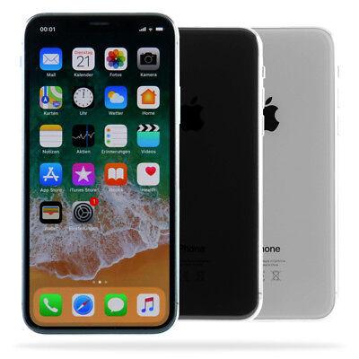 Apple iPhone X 256GB Space Grau Silber / eBay Garantie / Händler DE / Gebraucht