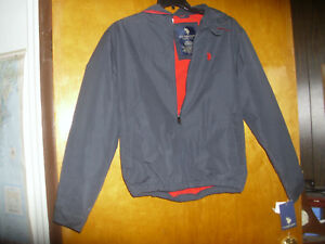 NEW-US-Polo-Assn-Men-s-Navy-Blue-Lined-Full-Zip-Sports-Jacket-Small