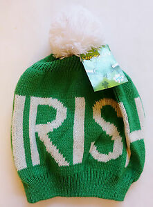 e63b6df5a29b59 St. Patricks Day - IRISH - GREEN Winter POM POM Hat with TASSLE | eBay