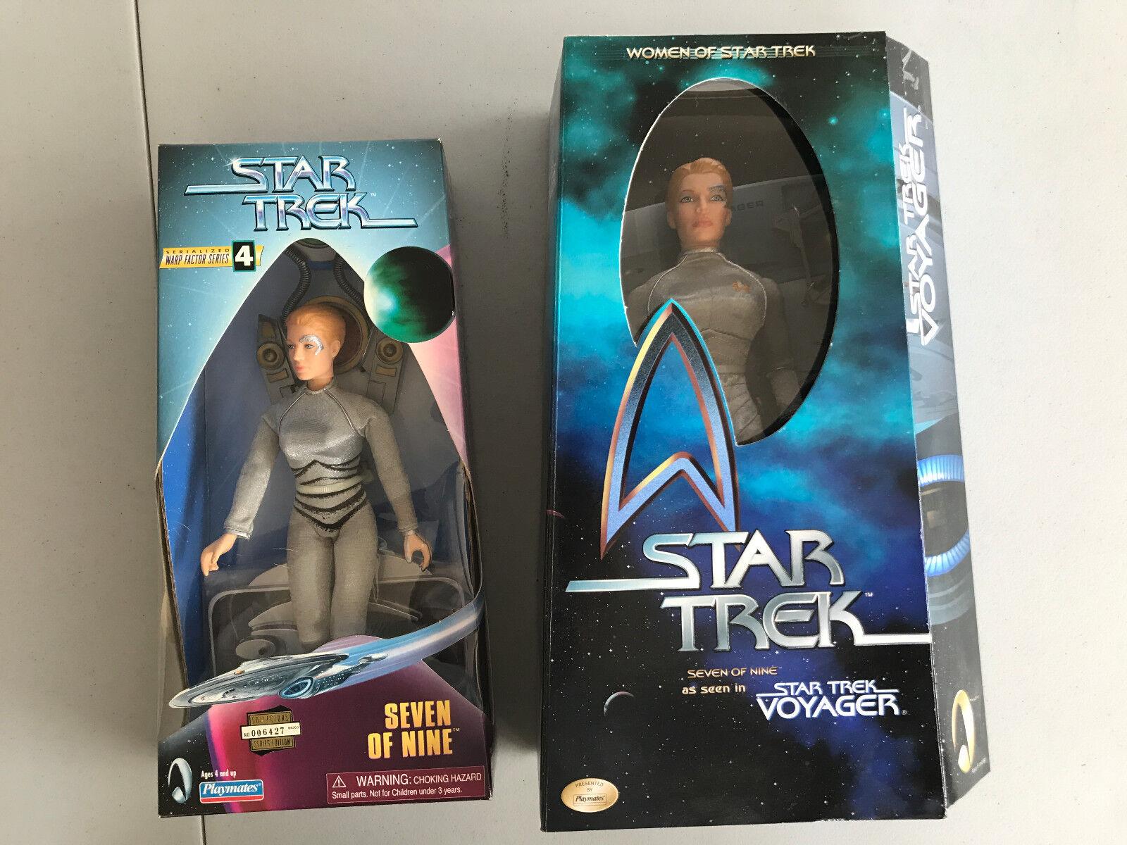 Women of Star Trek  SEVEN SEVEN SEVEN OF NINE 12 inch figure & Warp Factor Series 4 - 7 of 9 5464eb