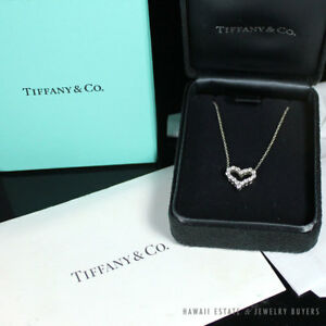 81af34c46 Image is loading AUTHENTIC-TIFFANY-amp-CO-DIAMOND-HEART-NECKLACE-MINI-